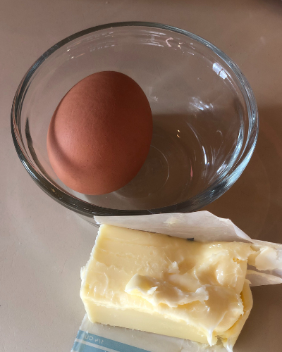 butter and egg