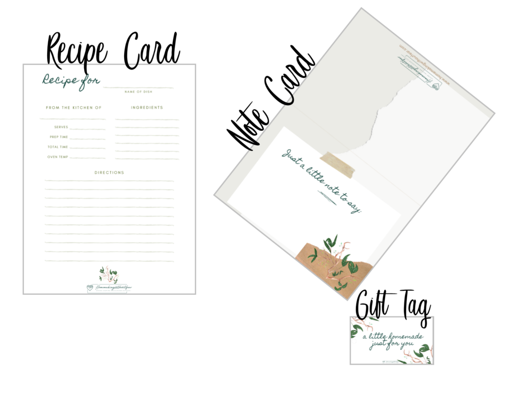In honor of Springtime here is a beautiful FREE homemaking stationary set for you to bring a little joy and beauty into your home. This printable set includes: to-do list, shopping list, note-card, gift tag and recipe card.