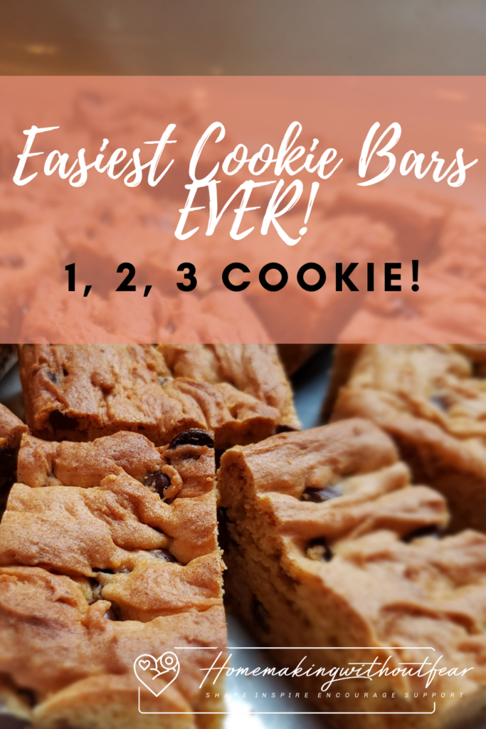 How about a SUPER EASY dessert recipe for all those summer BBQ's, picnics or days at the water? I know I'm always down for a quick easy, sweet treat and these are the the Easiest Cookie Bars Ever. . . How about a cookie with only 3 ingredients plus whatever kind of add-ins you like? They bake in 20-25 minutes and literally ANYONE can make them.