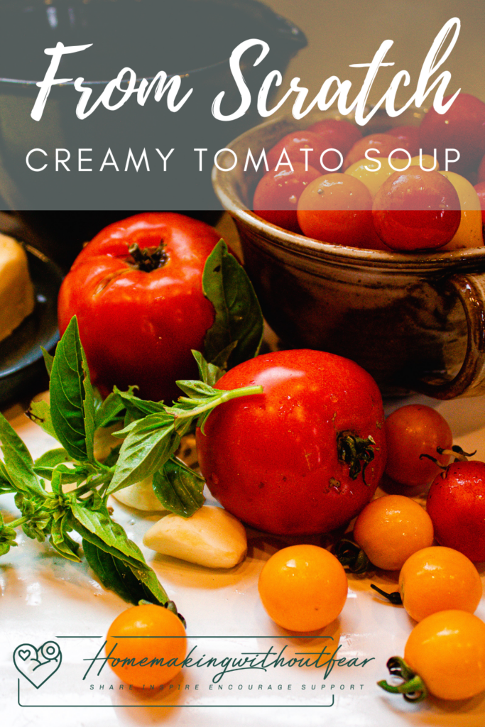 This tomato soup is just the best. Add a grilled cheese sandwich and you have one of my very favorite meals of all time. It is simple, flavorful, rich and actually very hearty and filling. I like to make this soup with fresh tomatoes  and fresh basil when they are abundant in the fall. You can use canned tomatoes and dried basil too. Either way, you are guaranteed to love this Creamy Tomato Soup